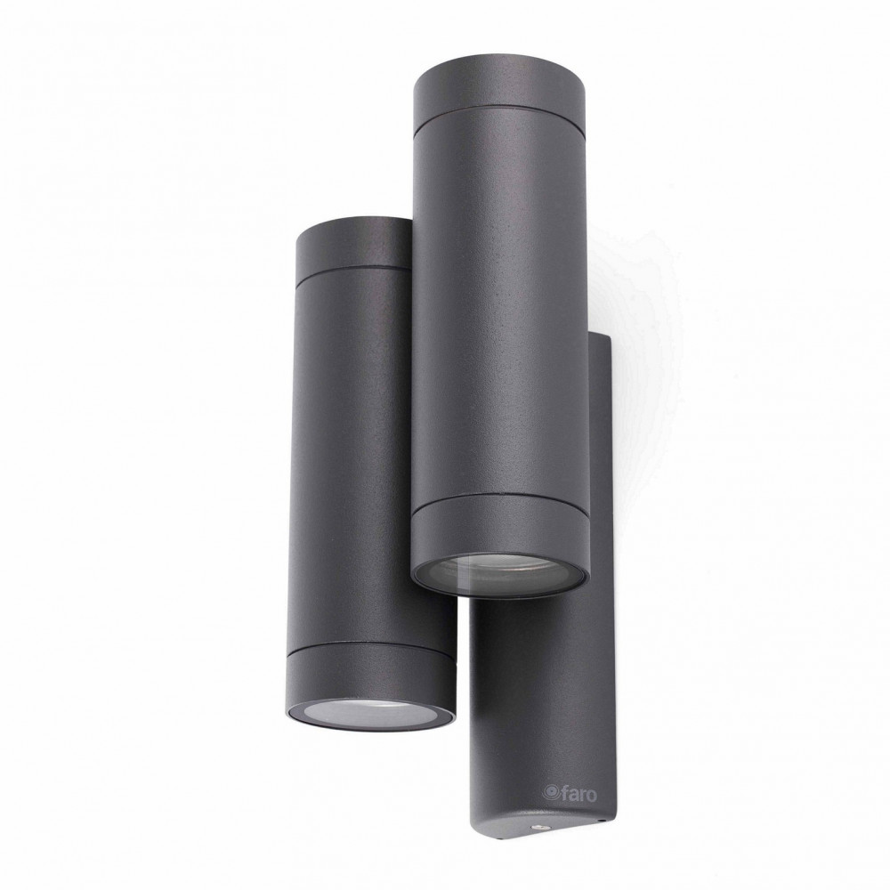 Applique de jardin grise en fonte d 39 aluminium luminaire for Focos para exterior jardin