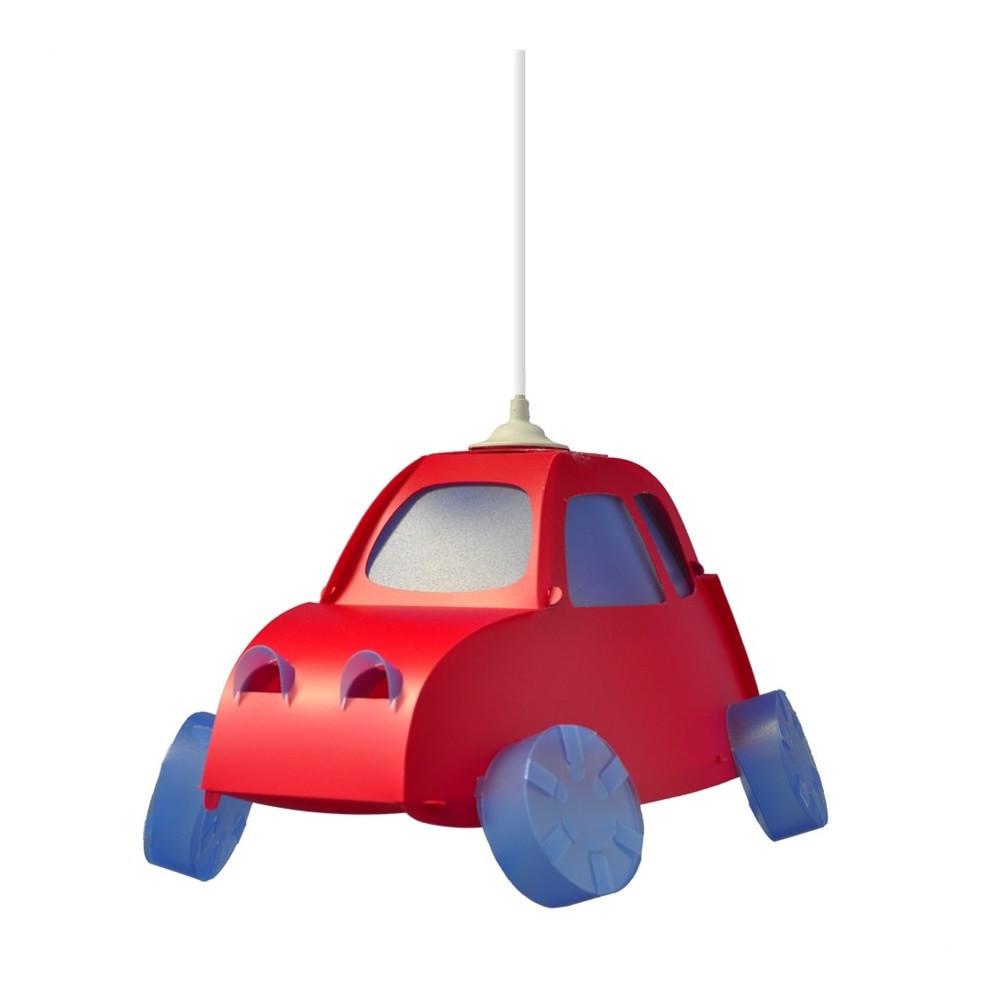suspension enfant voiture rouge luminaire en vente sur lampe avenue. Black Bedroom Furniture Sets. Home Design Ideas